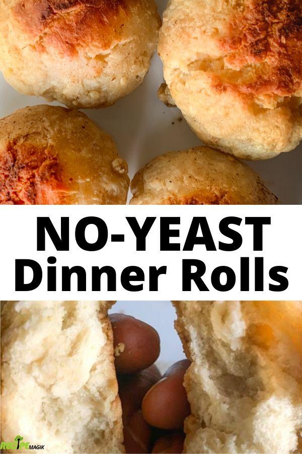 No Yeast Dinner Rolls Pillowy Soft Recipe Magik