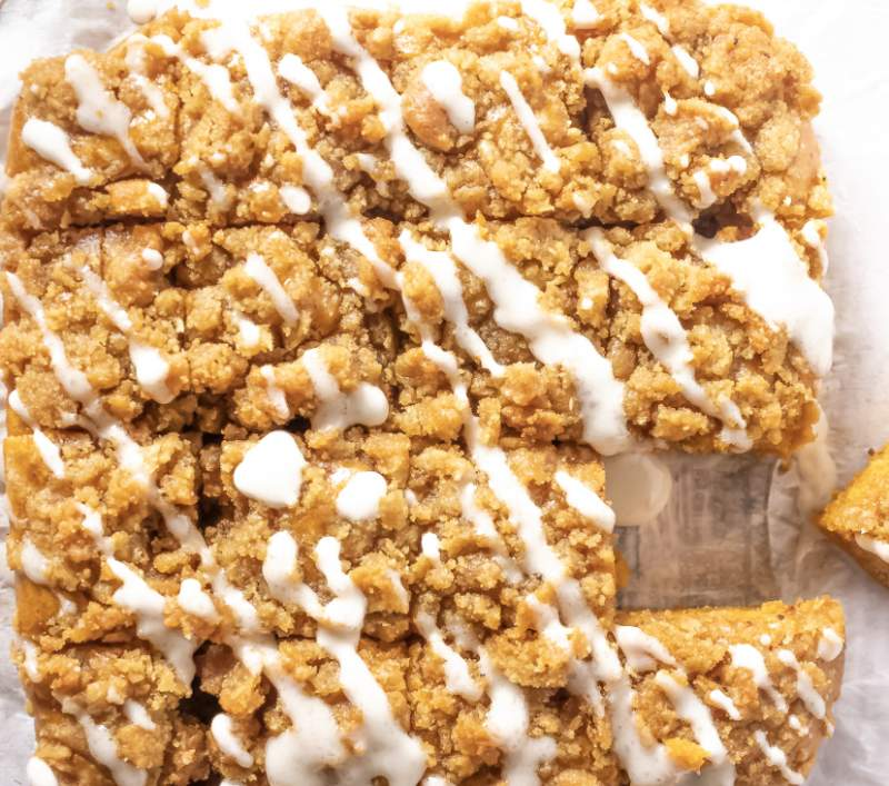 Vegan Pumpkin Coffee Cake with Buttery Streusel Topping ...
